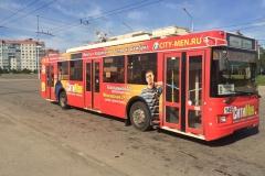 Реклама на транспорте в Калуге